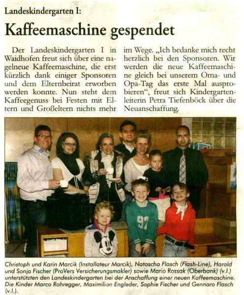 Zeitungsartikel Kindergarten